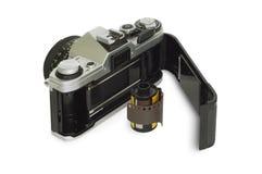 Appareil-photo et film Photographie stock
