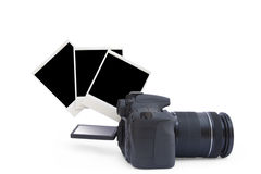 Appareil-photo et foto de polaroïd Image stock