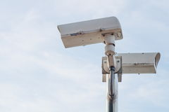 Appareil-photo extérieur de télévision en circuit fermé de sécurité Images stock