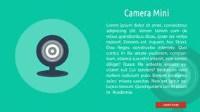 Appareil-photo Mini Banner Concept illustration libre de droits