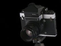 Appareil-photo, noir photo stock