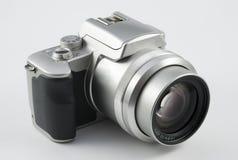 Appareil photo numérique argenté Photographie stock