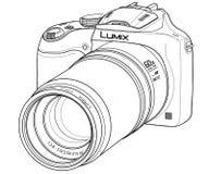 Appareil photo numérique de DSLR Illustration de Vecteur