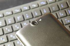 Appareil photo numérique de téléphone portable Plan rapproché d'objectif de caméra de Smartphone Image stock