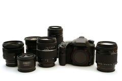 Appareil photo numérique interchangeable de lentille Photos libres de droits