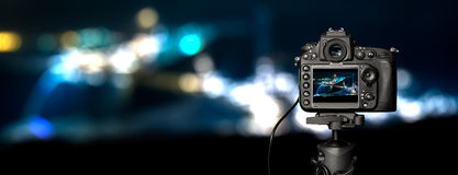Appareil photo numérique la vue de nuit Photo libre de droits
