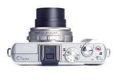 Appareil photo numérique de point et de pousse d'isolement sur le blanc Photos libres de droits