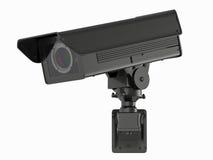 Appareil-photo ou caméra de sécurité de télévision en circuit fermé sur le blanc Image libre de droits