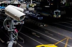 Appareil-photo ou surveillance de télévision en circuit fermé fonctionnant sur le trafic Photo stock