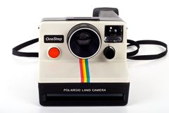 Appareil-photo polaroïd OneStep de cordon de cru Images stock