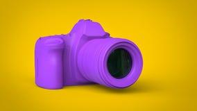 Appareil-photo pourpre moderne de photo - illustration 3D illustration de vecteur