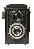 Appareil-photo réflexe 2 de vieille lentille jumelle Photo libre de droits