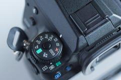 Appareil-photo réflexe de commutateur de cadran photographie stock
