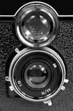 appareil-photo réflexe de Jumeau-lentille Photo stock