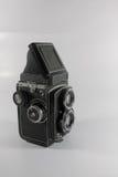Appareil-photo réflexe de lentille jumelle Photos libres de droits