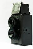 Appareil-photo réflexe de lentille jumelle Images libres de droits