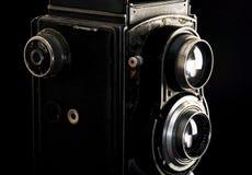 Appareil-photo réflexe jumel de vintage Images libres de droits