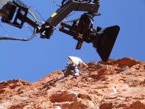 Appareil-photo rouge de roche images libres de droits