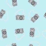 Appareil-photo sans couture de modèle avec une courroie Photo stock