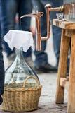 Appareillage de distillation utilisé pour Images libres de droits