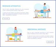Appareillage de massage et vecteur abdominal de traitement illustration stock