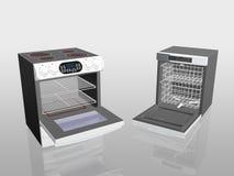 Appareils électroménagers, cuiseur, poêle, lave-vaisselle. illustration stock