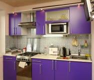 Appareils électroménagers dans la cuisine moderne photos libres de droits