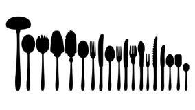 Appareils de cuisine plats d'ensemble Photo libre de droits