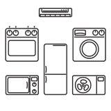 appareils Icônes de vecteur pour le Web et les applications Illustration Stock