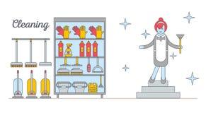 Appareils ménagers d'illustration plate illustration libre de droits