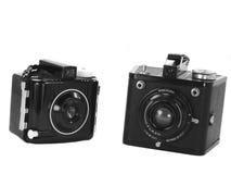 Appareils-photo de cru photographie stock