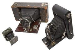 Appareils-photo de film de photographie de vintage d'isolement Photographie stock libre de droits