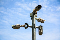 Appareils-photo de télévision en circuit fermé Image stock