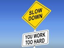 Appareils-photo de vitesse en fonction Vous travaillez trop dur illustration libre de droits