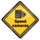 Appareils-photo de vitesse de précaution illustration de vecteur