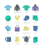 Apparel and Personal Items Icons Royalty Free Stock Photos