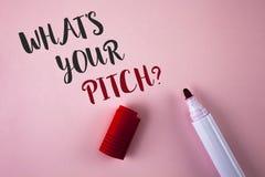 Apparence conceptuelle d'écriture de main ce qui est votre question de lancement Proposition de photo d'affaires présente présent photos stock
