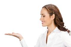 Apparence de femme d'affaires, sur le blanc photos libres de droits