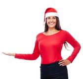 Apparence de fille de Santa de Noël Photographie stock libre de droits