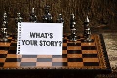 Apparence de note d'?criture quel s est votre question d'histoire Analysisner de présentation de photo d'affaires de demander dém photo stock
