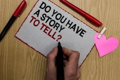 Apparence de signe des textes vous avez une histoire pour dire la question Les contes conceptuels de souvenirs de fabulation de p illustration de vecteur