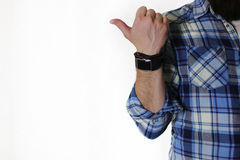 Apparence masculine de doigt de main photos stock