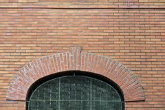 Apparent brick wall, with window in front Stock Images