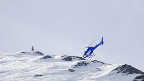 Free Apparent Helicopter Crash In A Mountain Ridge Royalty Free Stock Images - 87433319
