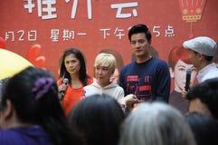 Apparition spéciale d'artistes de Mediacorp à l'étape de centre de mail de point de Singapour Jurong images libres de droits