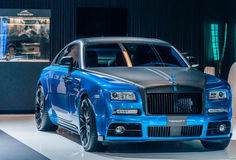 Apparizione blu di Mansory Rolls Royce Fotografie Stock
