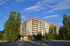Appartament byggnad, Chornobyl zon Fotografering för Bildbyråer