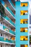 Appartamenti al sulla spiaggia a Sunny Isles Beach in Florida Fotografie Stock Libere da Diritti