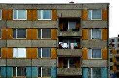 Appartamenti arancioni e blu Immagini Stock Libere da Diritti