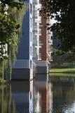 Appartamenti costruiti in acqua Fotografia Stock